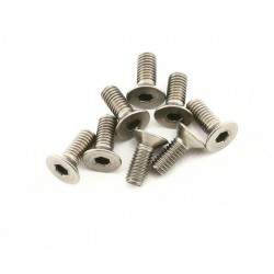 Abec35 Titanium screws 3x8mm FH (10pcs)