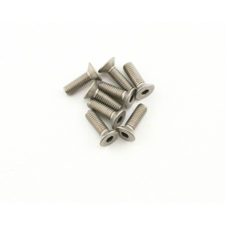 Abec35 Titanium screws 3x10mm FH (10pcs)