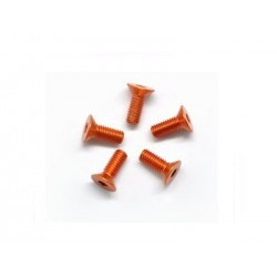 Arrowmax aluminum screw allen countersunk M3*8 Orange 7075 (5pcs)