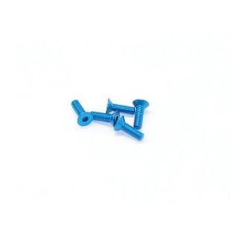 Arrowmax aluminum screw allen countersunk M3*6 Blue 7075 (5pcs)