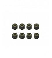 Arrowmax Nylon Lock Nuts M4 (8)